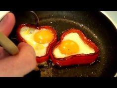 Huevo frito con pimiento, ideal para decorar y acompañar cualquier plato. - YouTube