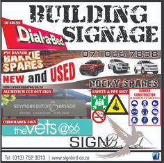 Are you in need of signage ? Signbird would love to assist you with your custom-made signage. We specialize in a wide variety of signage that you can choose from, depends on you needs: - Safety & PPE Signs and so much more. If you are not sure what you need for your business, give us a call and we can point you in the right direction.  #signbird #signage