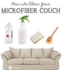 How To Clean A Microfiber Couch (via Bloglovin.com )