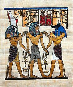 """La temática puede ser religiosa, sobre todo en el caso de las tumbas con las representaciones de """"El Libro de los Muertos""""."""