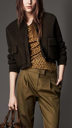Ribbed Knit Bomber Jacket | Burberry