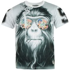 TEE SHIRT CELEBRY TEES MONKEY BLANC - That should be mine!