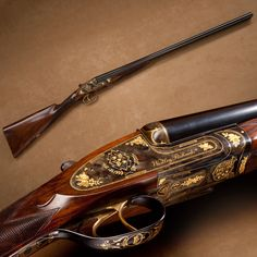 Princess Diana's Shotgun –34 years ago this month, Lady Diana Spencer married Prince Charles. This Westley Richards side-by-side 12 gauge was a wedding present for Diana. Engraved by the Brown Brothers with gold crests and floral accents, the British royal seal and other heraldic emblems of the couple are included in the decoration.