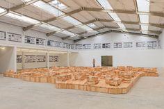 ai weiwei & herzog + de meuron curate ordos 100 model at galleria continua - designboom | architecture & design magazine
