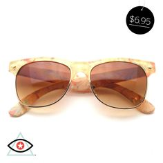 2eb110beaa4 Floral Colors Retro Flat Top Half Frame Clubmaster Wayfarer Sunglasses
