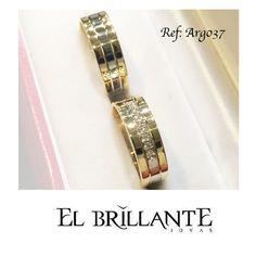 Que tus manos sean el centro de atención con nuestras hermosas y exclusivas argollas Arg37! Elige estas argollas en oro amarillo y blanco de 18 kts. Precio por el par: $1.980.000  #ElBrillanteJoyas Argollas y anillos de matrimonio http://www.elbrillantejoyeria.com.co/