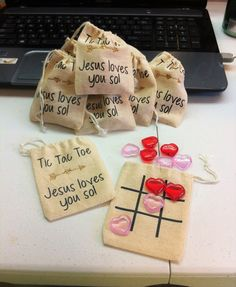 Valentines Tic Tac Toe game for church - Religious Valentines Favor!