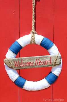 Nautical Decor- Wreath… and a day by the ocean Option incase we can't find one for a reasonable price