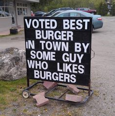 This guy doesn't need some sort of credentials to know he really likes burgers