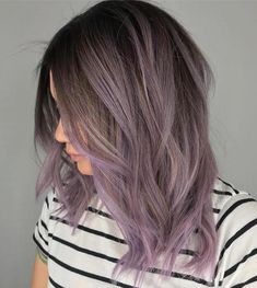 7 Breathtaking Hair Color Trends For 2019 Smokey Lavender hair color Related posts:Lilac hair Shades of Hair Color ShowPantone's Color of the Year, Ultra Violet, Is the Perfect Hair Inspiration Brown Ombre Hair, Ombre Hair Color, Hair Color Balayage, Balayage Brunette, Bayalage For Short Hair, Pink Bayalage, Metallic Hair Color, Short Balayage, Brunette Highlights