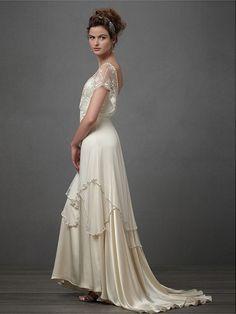 A-Linje/Prinsesse Sweetheart Sateng Blonder Brudekjoler