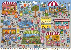 Anja Boretzki, childrens illustrator. great material to print out for memory games, mazes and just fun to look at pictures