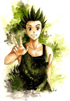 Gon Freecs : 16 yo ver | Hunter X Hunter | by azizART23 on DeviantArt