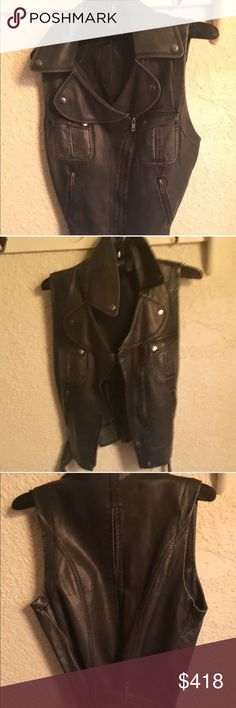 Reformation leather vest Reformation distressed leather vest, worn lightly. Missing tags, otherwise great condition. Size S Reformation Jackets & Coats Vests