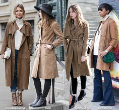 In Fashion | Suede Trench-Coats