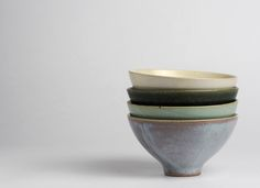 Meishiwan ..rice bowls finished in four glazes
