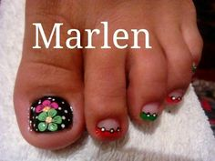 Uñas de pies Cute Pedicure Designs, Toe Nail Designs, Pedicure Nail Art, Toe Nail Art, Colorful Nail Designs, Beautiful Nail Designs, Cute Toe Nails, Pretty Nails, Nail Art Photos