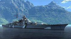 Battleship Bismarck in Altafjord.