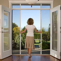 To replace the ugly sliding glass doors. Hmmm.... I love the option of the screen too.