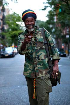 On the Street… Thirteenth St., New York « The Sartorialist Reggae Rasta, Rasta Man, History Of Hip Hop, Dennis Brown, Jah Rastafari, Haile Selassie, Sartorialist, Black Pride, Afro Punk