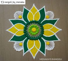 Easy Rangoli Designs Videos, Rangoli Designs Simple Diwali, Rangoli Simple, Indian Rangoli Designs, Rangoli Designs Latest, Rangoli Designs Flower, Free Hand Rangoli Design, Rangoli Border Designs, Small Rangoli Design