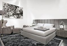 Nowoczesna sypialnia w bieli i popielu