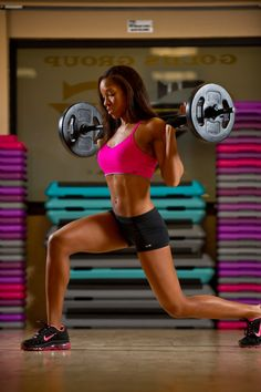 Walking Barbell Lunges - Legs