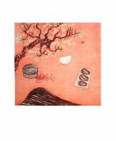 Gravures & Estampes | Naoko Tsurudome | Un moule au printemps | Tirage d'art en série limitée sur L'oeil ouvert
