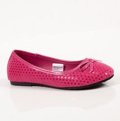 Youth Dotted Microsuede Ballet Flats - Under $10: Girls Ballet Flats - Events