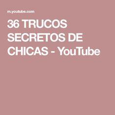 36 TRUCOS SECRETOS DE CHICAS - YouTube Youtube, Curvy Hips, Small Mirrors, Sanitary Napkin, Girls Secrets, Plastic Cups, Lifehacks, Youtubers, Youtube Movies