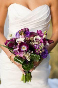 Royal purple wedding bouquet