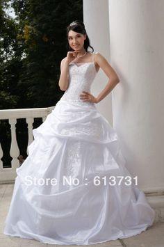 wholesale 2012 spaghetti strap russian style appliques beading taffeta wedding dresses rw709 15900