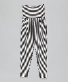 Look at this Leighton Alexander Black & White Stripes Tube-Top Jumpsuit - Toddler & Girls on #zulily today!