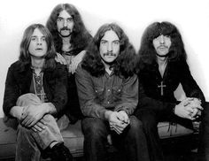 Black Sabbath Black and white Photo shoot