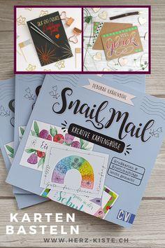 Ein tolles Kreativbuch mit über 30 einfachen Anleitungen, wie du ganz einfach deine eigenen Karten basteln und verschenken kannst! Analoge Post verschicken ist ein wertvolles Zeichen der Wertschätzung und mit den vielen Anleitungen, Tipps und Tricks und Ideen findest du für jede Gelegenheit eine passende Karte zum selber machen. Verschenk Freude - auch mit Lettering Karten. #karten #basteln #snailmail #schneckenpost #analog #tutorial #kartenbasteln #kreativ #basteln Snail, Tricks, Education, Ideas, Diy Cards, Diy Gifts, Greeting Card Book, Simple, Unique Cards