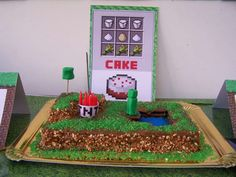 """Minecraft Birthday Party Birthday Party *love the game """"ingredients"""""""