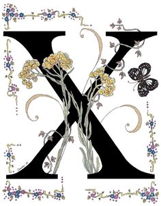 X Is For Xeratum And A Forest Queen Butterfly Painting
