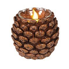 Pine Cone Votive Holder