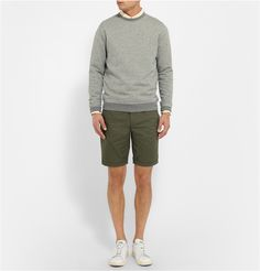 Oliver Spencer - Marled Cotton-Blend Sweatshirt