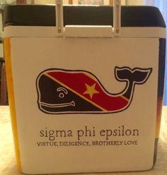 Sigma Phi Epsilon | SigEp Formal Cooler | Virtue Diligence Brotherly Love | Vineyard Vines | Flag