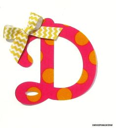 Polka Dot Cursive Letter ...Fabric Iron On by OnceUponaDesign, $3.00