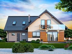 Projekt domu Galilea BIS 2M 134,15 m2 - koszt budowy - EXTRADOM Beautiful House Plans, Beautiful Homes, Attic Rooms, Home Fashion, Floor Plans, Outdoor Structures, Mansions, House Styles, Inspiration