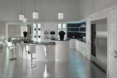 Lackierte Küche aus Eichenholz mit Kücheninsel DOLCE VITA by Brummel Cucine Design VM Design