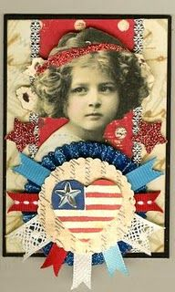 Nostalgic Collage': Vintage of July ATC Fourth Of July, 4th Of July Wreath, Artist Card, I Love America, Atc Cards, Scrapbook Paper Crafts, Scrapbooking, Old Glory, Happy 4 Of July