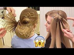 """Вечерняя прическа с плетением """"Цветы"""" Updo Hairstyles Hair Tutorial - YouTube"""