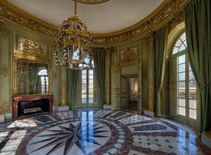 Le Petit Trianon, a small chateau located on the grounds of the Palance of Versailles, France.