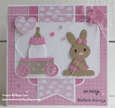Baby Shower Labels, Baby Shower Cards, Baby Bunnies, Bunny, Tarjetas Pop Up, Marianne Design Cards, Baby Lamb, Designer Baby, New Baby Cards