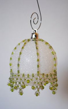 Beaded ornament cover by KerrisKrafts70 on Etsy