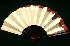 Japanese Dance Fan Sensu Mai Ogi Gold Silver Brown Cream F143 Japanese Traditional Design Silver Leaf Gold Leaf