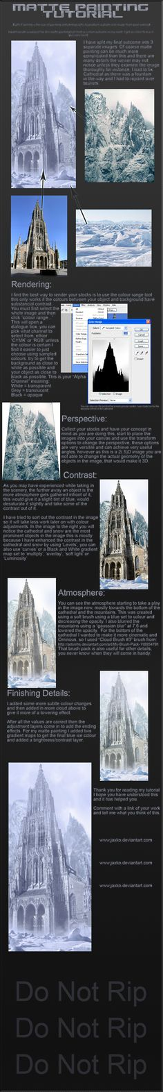 Matte Painting Tutorial by ~jaxko on deviantART